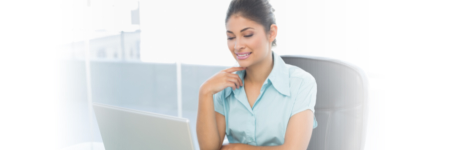 Business Woman working on computer