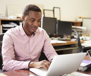 Tax Preparer on Computer